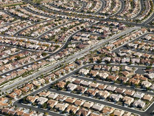 Urban housing sprawl.