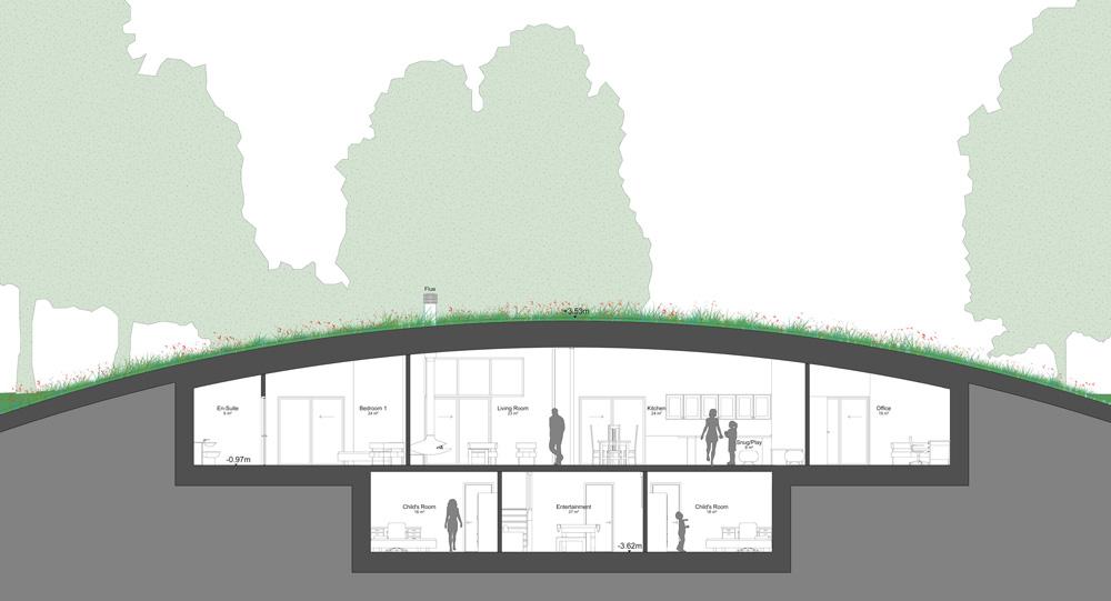 A plan of Long Barrow Passivhaus