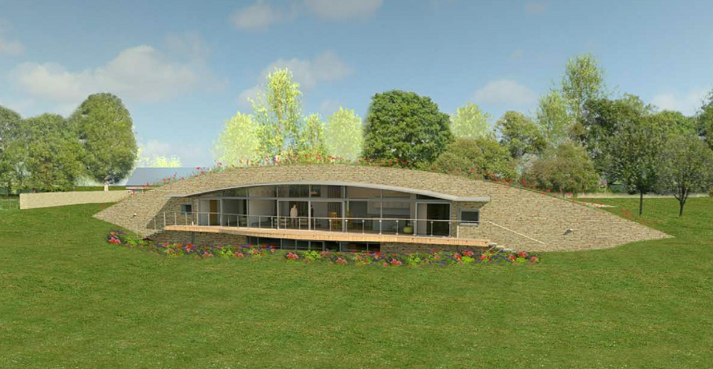 A graphic of Long Barrow Passivhaus