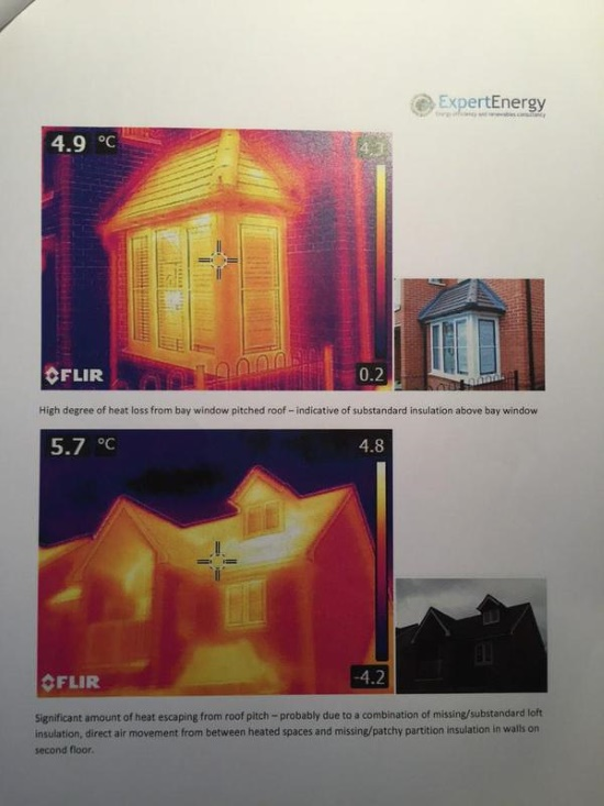 Thermal image after some initial rectification works had taken place