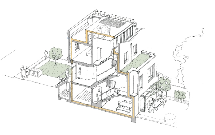 Hackney 80 per cent house drawing