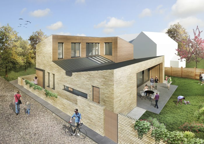 Potton Passivhaus mock up