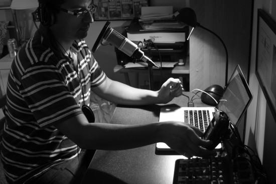 Cesar podcasting
