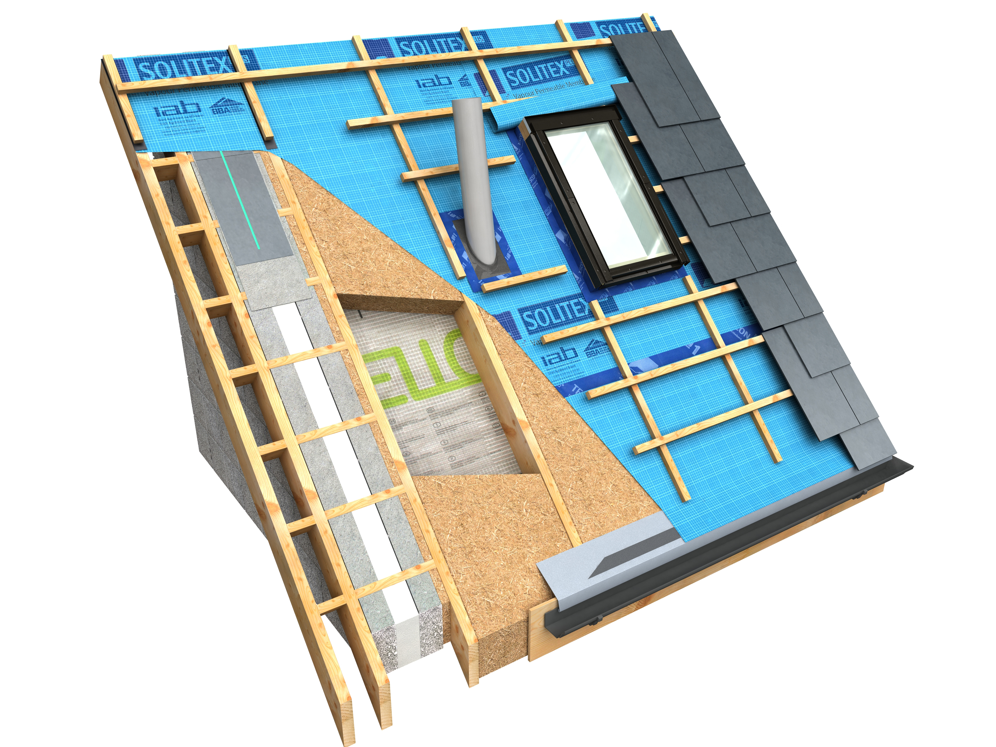 outside airtightness layer section