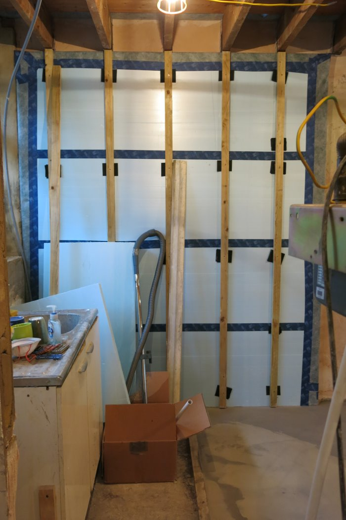 Internal wall insulation and airtightness measures