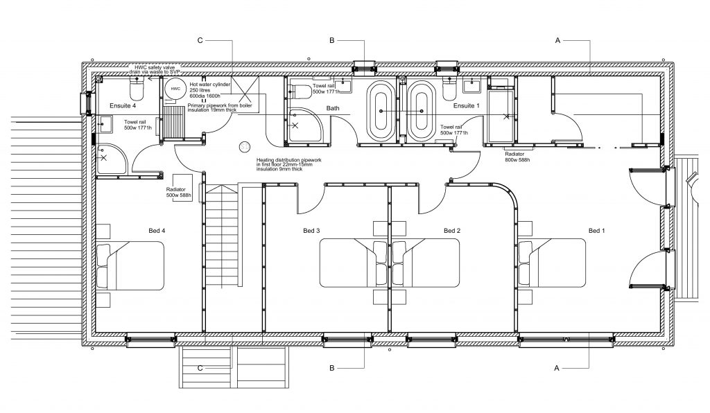 Heating-First-Floor-Layout-1-1024x596 Underfloor Heating Schematic on solar chimney, variable air volume, radiator heating, constant air volume, ceiling heating, storage heater, water heating, solar water heating, gas heating, thermal comfort, basement heating, oil heating, solar combisystem, infloor heating, coefficient of performance, boiler heating, fan heater, operative temperature, wall heating, thermal mass, home heating,