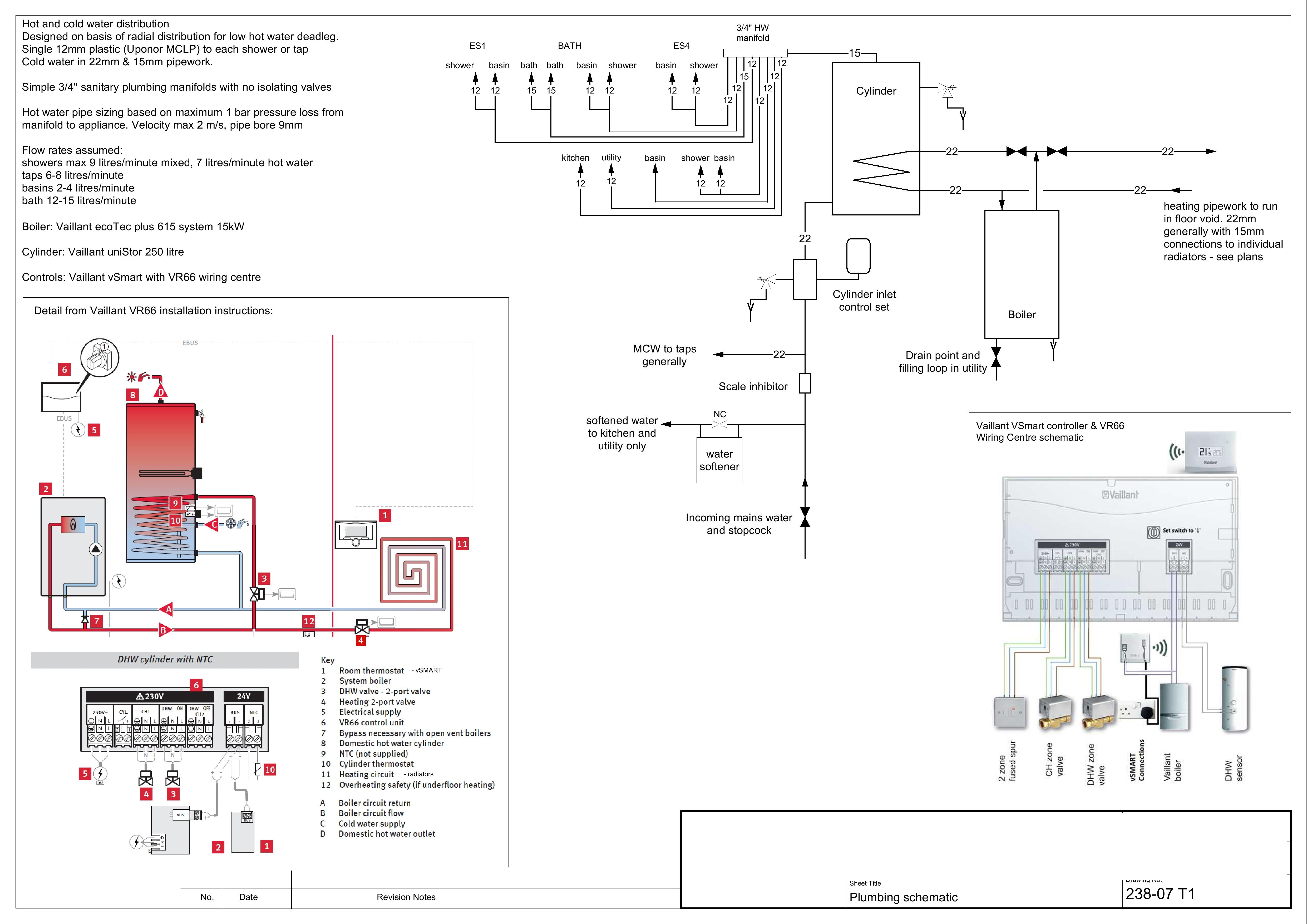 Schematic Example Of Kitchen And Utility Room Plumbing Manifolds